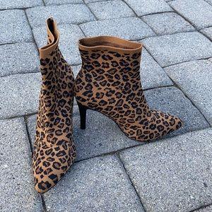 Cheetah print Sock bootie